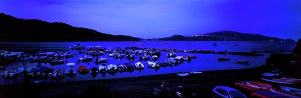 Elba Photograph - Boats At A Harbor, Capoliveri, Lacona by Panoramic Images