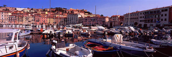 Elba Photograph - Boats At A Harbor, Portoferraio, Island by Panoramic Images