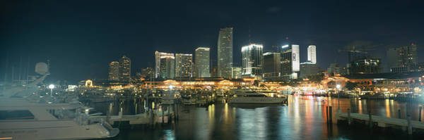 Dade Photograph - Boats At A Harbor With Buildings by Panoramic Images