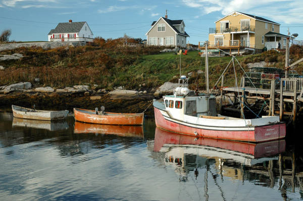 Photograph - Boats At A Small Wharf. Peggy's Cove. by Rob Huntley