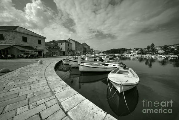 Stari Photograph - Boats At Stari Grad  by Rob Hawkins