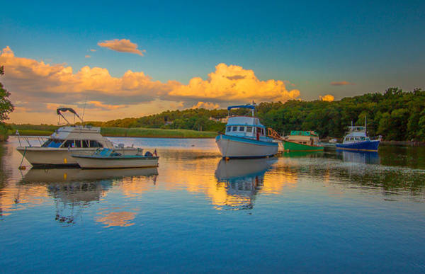 Photograph - Boats At Sunset by Brian MacLean