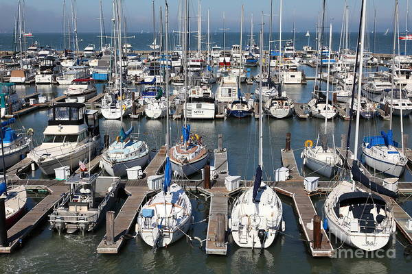 Photograph - Boats At The San Francisco Pier 39 Docks 5d26009 by Wingsdomain Art and Photography