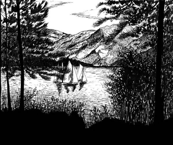 Drawing - Boats by Carl Genovese
