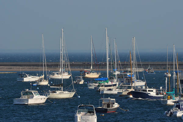Photograph - Boats Congregating By The Marblehead Harbor Causeway by Toby McGuire