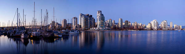 False Creek Wall Art - Photograph - Boats Docked At A Harbor, Yaletown by Panoramic Images