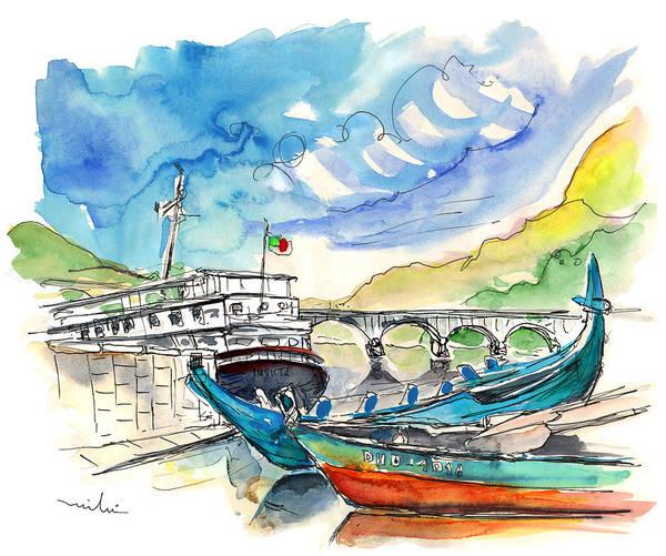 Painting - Boats In Barca De Alva 02 by Miki De Goodaboom