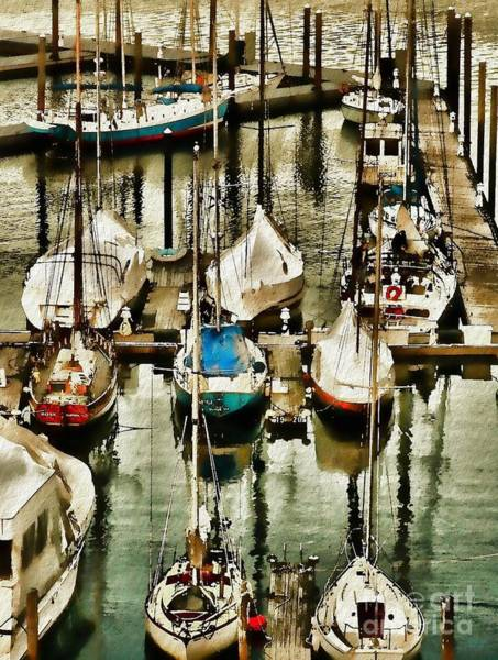 Photograph - Boats In Boston Harbor by Jeff Breiman