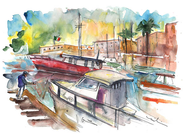 Painting - Boats In Palermo 02 by Miki De Goodaboom
