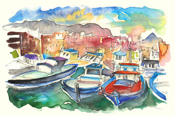 Painting - Boats In Porticello by Miki De Goodaboom