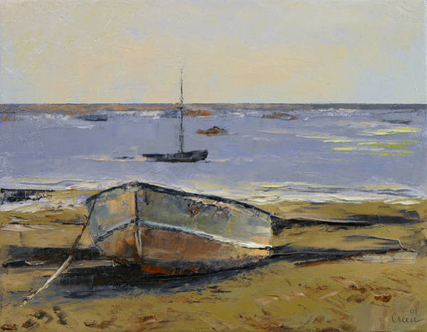 Arte Painting - Boats In Provincetown Harbor by Michael Creese
