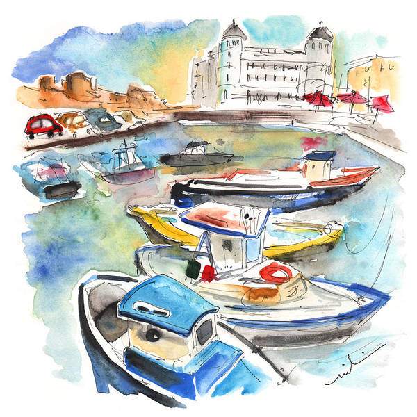 Painting - Boats In Siracusa 02 by Miki De Goodaboom