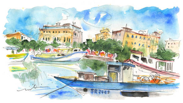 Painting - Boats In Siracusa by Miki De Goodaboom