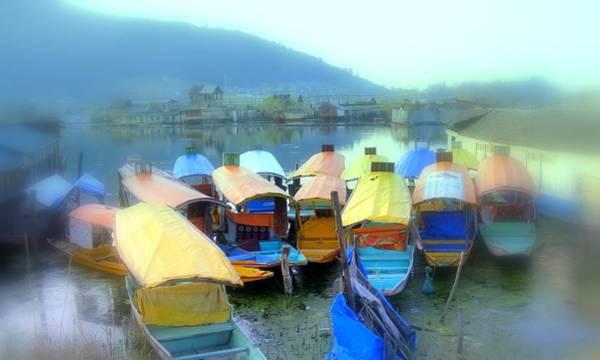 Dal Lake Photograph - Boats In Srinagar by Svenja Bary