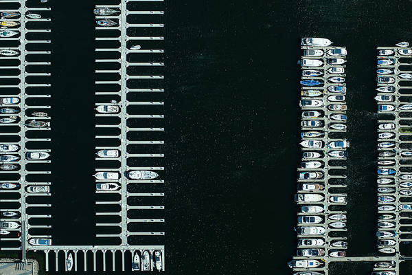 Nautical Photograph - Boats In The Harbour by Michael H