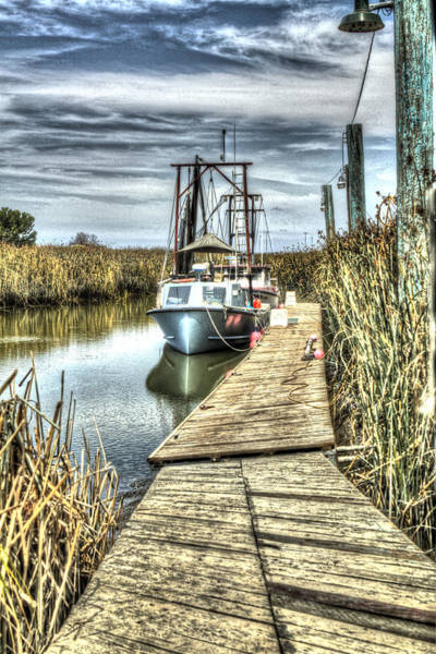 Alviso Photograph - Boats In The Marsh 2 by SC Heffner