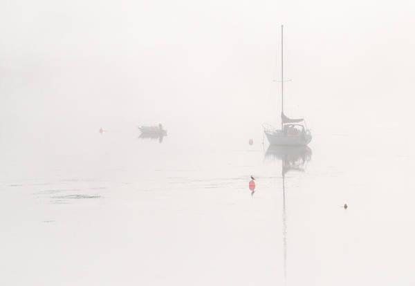 Photograph - Boats In The Mist 1. Tantallon. Nova Scotia. by Rob Huntley