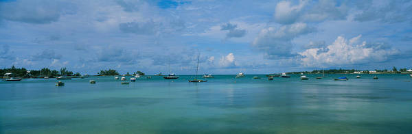 Sea Of Serenity Photograph - Boats In The Sea, Mangrove Bay, Sandys by Panoramic Images