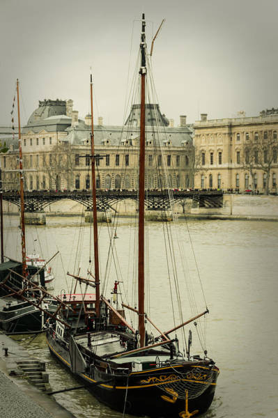 Wall Art - Photograph - Boats In The Seine River by Marco Oliveira