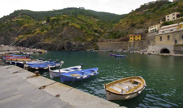 Photograph - Boats In Vernazza by Matt Swinden