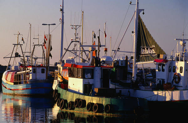 Skane Photograph - Boats In Village Harbour by Anders Blomqvist
