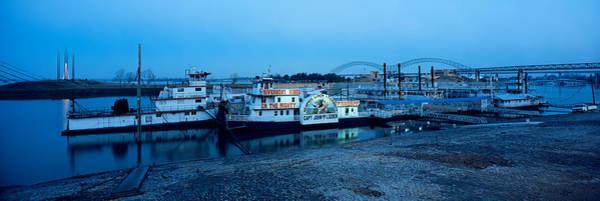 Wall Art - Photograph - Boats Moored At A Harbor, Memphis by Panoramic Images