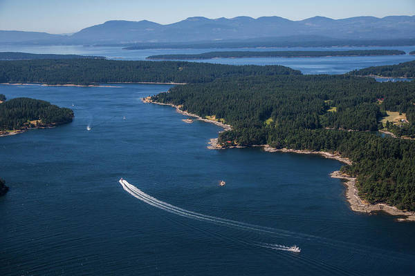 Port Of Vancouver Wall Art - Photograph - Boats Off The Coast Of Vancouver Island by Michael Hanson