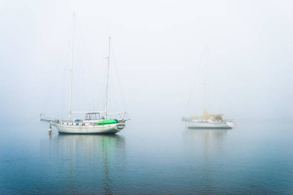 Photograph - Boats On A Foggy Morning by Priya Ghose
