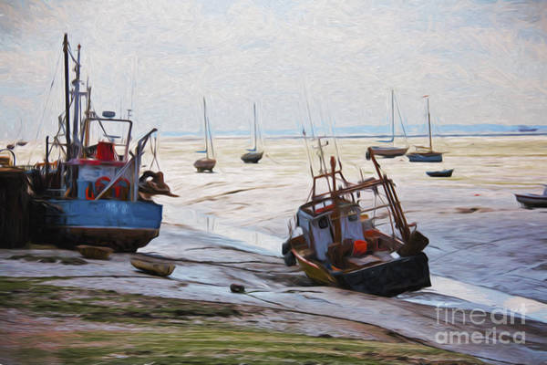 Leigh On Sea Photograph - Boats On Mudflats by Sheila Smart Fine Art Photography