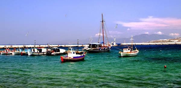 Wall Art - Photograph - Boats On The Aegean 2 - Mykonos - Greece by Madeline Ellis