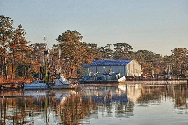 Wall Art - Digital Art - Boats On The Bon Secour River by Michael Thomas