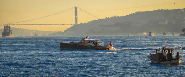 Photograph - Boats On The Bosphorus by Ross Henton