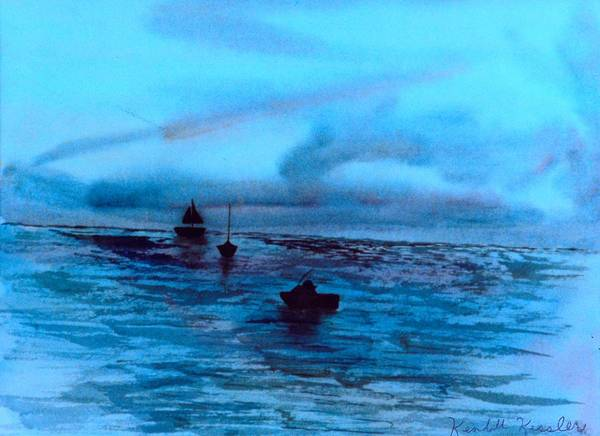 Painting - Boats On The Chesapeake Bay by Kendall Kessler