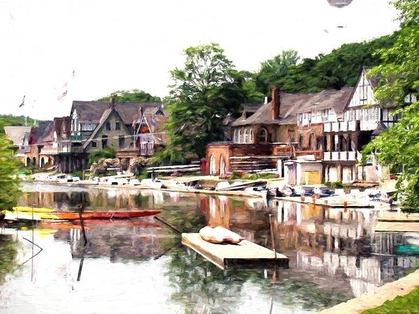 Photograph - Boats Reflected On The Row by Alice Gipson