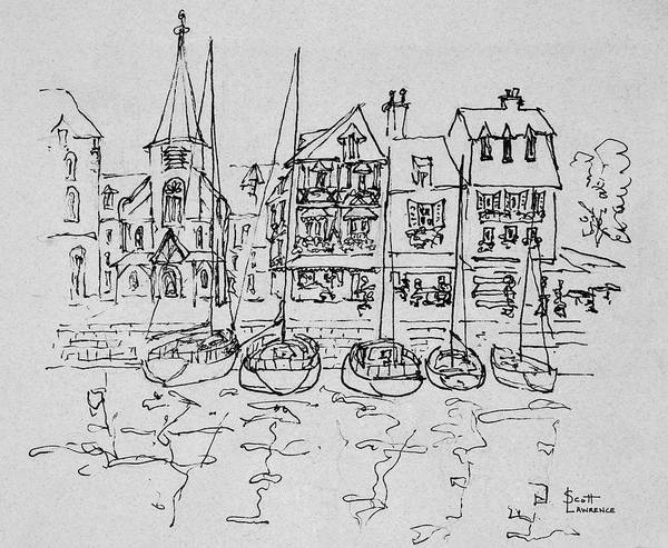 Wall Art - Photograph - Boats Rest In The Port At Honfleur by Richard Lawrence