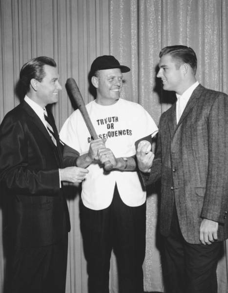 Photograph - Bob Barker & Don Drysdale by Underwood Archives