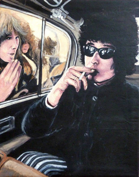 Painting - Bob Dylan 1966 by Tom Roderick