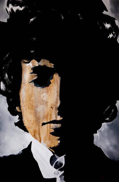 Wall Art - Painting - Bob Dylan Born Already Ruined by Brad Jensen