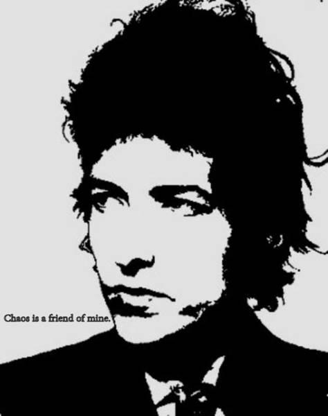 Bob Dylan Digital Art - Bob Dylan by Cat Jackson