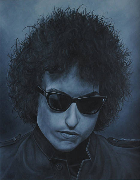 Tangle Painting - Bob Dylan by David Dunne