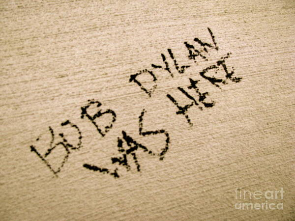 Bob Dylan Graffiti Art Print
