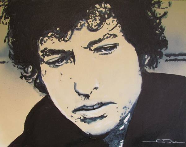 Drawing - Bob Dylan - It's Alright Ma by Eric Dee