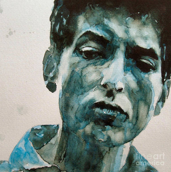 Folk Painting - Bob Dylan by Paul Lovering