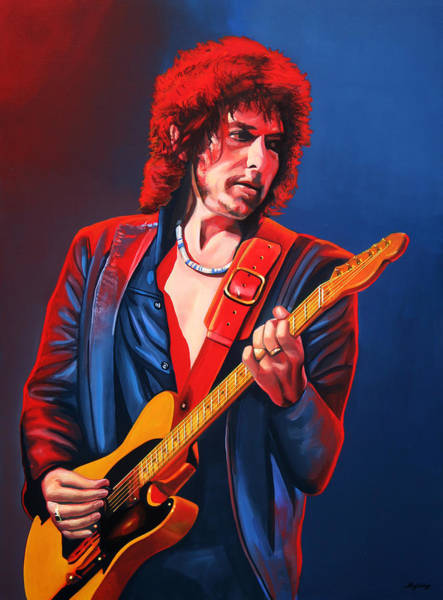 Trains Painting - Bob Dylan Painting by Paul Meijering