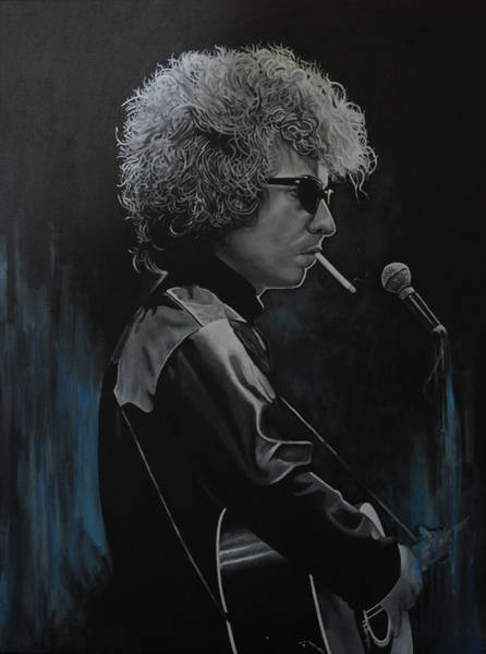Tangle Painting - Bob Dylan 'tangled Up In Blue' by David Dunne