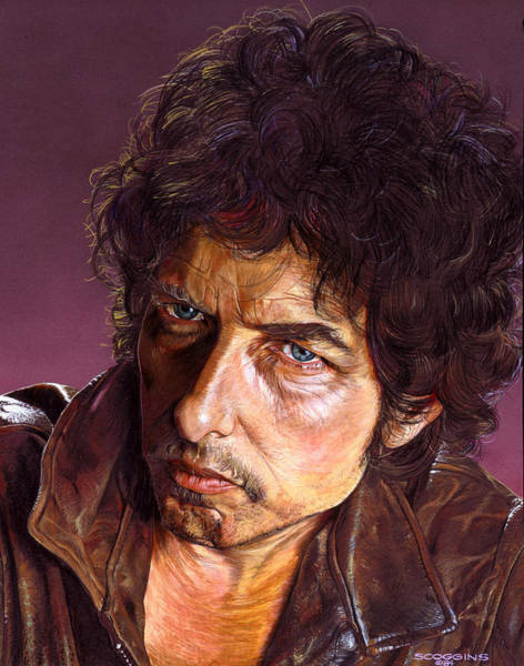 Wall Art - Painting - Bob Dylan by Timothy Scoggins