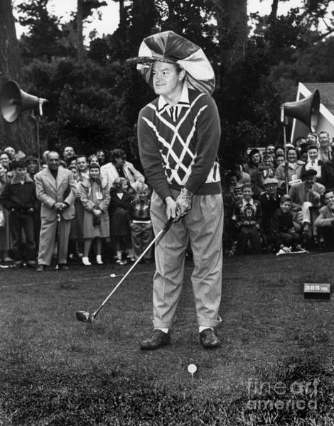 Bob Hope At Bing Crosby National Pro-am Golf Championship  Pebble Beach Circa 1955 Art Print
