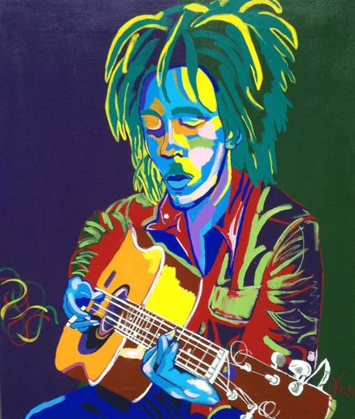 The Wailers Painting - Bob by Janice Westfall