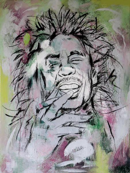 The Wailers Painting - Bob Marley Art Painting Sketch Poster by Kim Wang