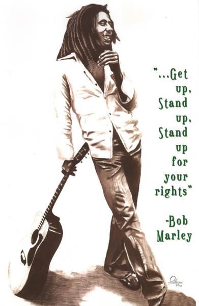 Dope Mixed Media - Bob Marley by Bill Olivas